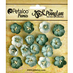 Petaloo - Penny Lane Collection - Floral Embellishments - Forget me Nots - Sea Green