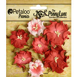 Petaloo - Penny Lane Collection - Floral Embellishments - Mini Wild Roses - Antique Red