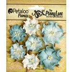 Petaloo - Penny Lane Collection - Floral Embellishments - Mini Wild Roses - Robin Egg Blue