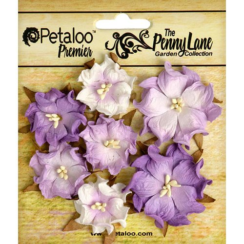 Petaloo - Penny Lane Collection - Floral Embellishments - Mini Wild Roses - Soft Lavender