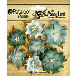Petaloo - Penny Lane Collection - Floral Embellishments - Mini Wild Roses - Sea Green
