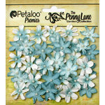 Petaloo - Penny Lane Collection - Floral Embellishments - Mini Daisy Petites - Robin Egg Blue