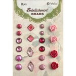 Petaloo - Flora Doodles Collection - Brads - Pink