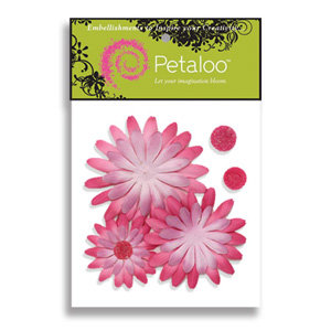 Petaloo - Tutti Fruitti Collection - Flowers - Double Delight Peel and Stick - 3 Flowers - Lavender and Pink, CLEARANCE