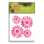 Petaloo - Tutti Fruitti Collection - Flowers - Double Delight Peel and Stick - 4 Flowers - Lavender and Pink, CLEARANCE