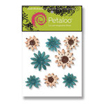 Petaloo - Sunken Treasure Collection - Flowers - Double Delight Peel and Stick - 8 Flowers - Sunken Treasure, CLEARANCE