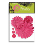Petaloo - Tutti Fruitti Collection - Flowers - Layered Daisies With Glitter Peel and Stick - 3 Flowers - Dark Pink