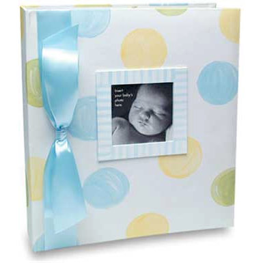 Penny Laine Papers - Keepsake Baby Books Collection - Large Dots - Adoption - Boy