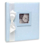Penny Laine Papers - Keepsake Baby Books Collection - Blue with White Dots