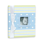 Penny Laine Papers - Keepsake Baby Books Collection - Blue and Green Stripe
