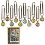 7 Gypsies - Avignon Collection - Paper Clip Dangles - Numbers, CLEARANCE