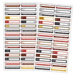 7 Gypsies - 97% Complete - Mini Label Stickers - Fill In