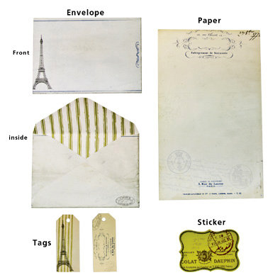 7 Gypsies - Vintage Stationery Set - Paris Edition