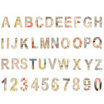 7 Gypsies - Lille Collection - Chipboard Pieces - Alphabet and Numbers