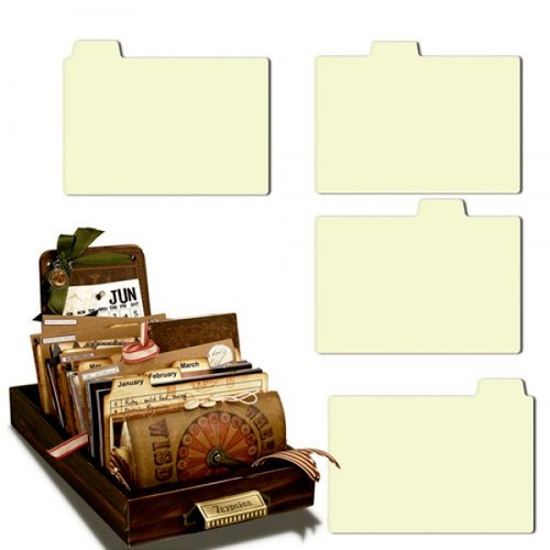 7 Gypsies - Librarie Drawer - Tabbed Dividers - Naked Tabs