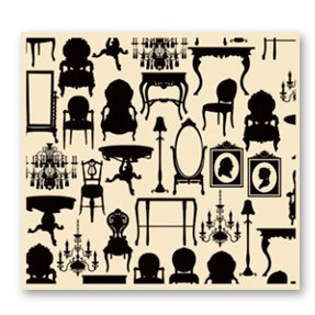 7 Gypsies - Collage Tissue Paper - Silhouettes