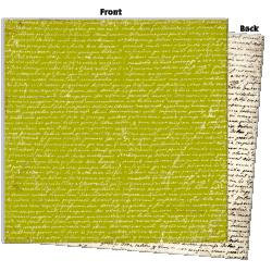7 Gypsies - Avignon Collection - 12 x 12 Double Sided Paper - Ecriture