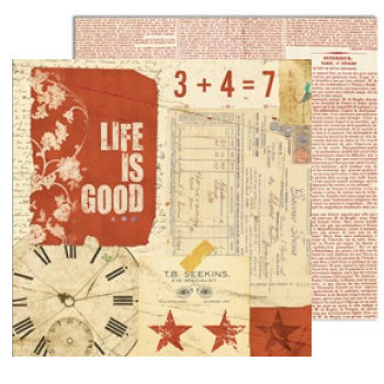 7 Gypsies - Lille Collection - 12 x 12 Double Sided Paper - Life Is Good