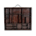 7 Gypsies - Letterblock Printer Tray - Stained Wood