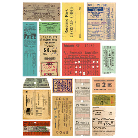 7 Gypsies - Rub Ons - Color - Tickets