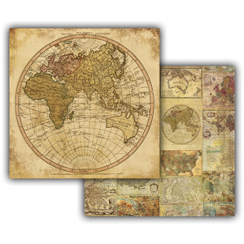 7 Gypsies - Global Collection - 12 x 12 Double Sided Paper - Hemisphere