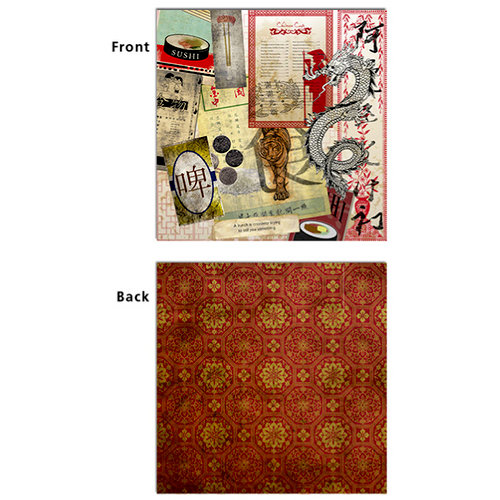 7 Gypsies - Epicurean Collection - 12 x 12 Double Sided Paper - Miso