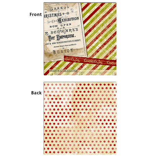 7 Gypsies - Santa's Journey Collection - Christmas - 12 x 12 Double Sided Paper - Comfort and Joy