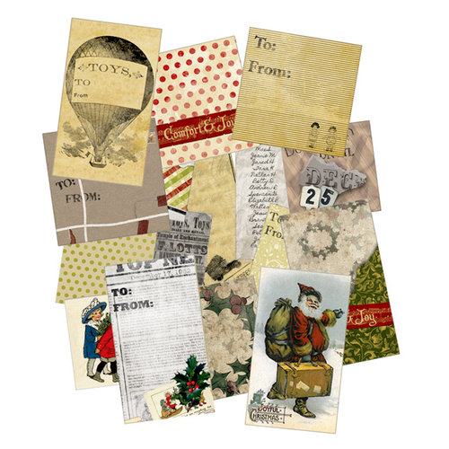 7 Gypsies - Santa's Journey Collection - Christmas - Holiday Gift Tags