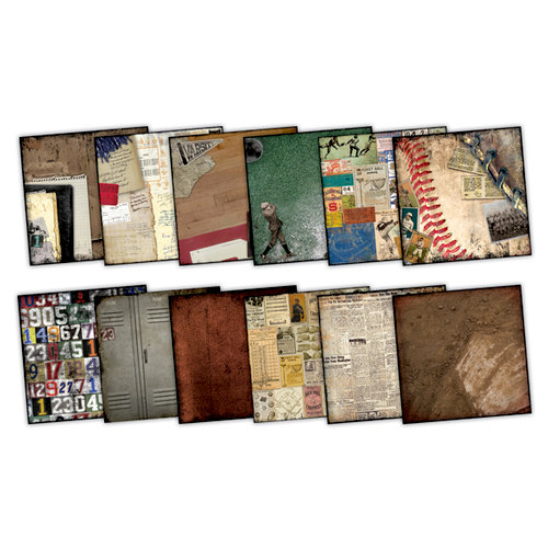 7 Gypsies - Vintage Varsity Collection - 8 x 8 Paper Pack