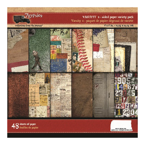 7 Gypsies - Vintage Varsity Collection - 6 x 6 Paper Pack