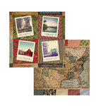 7 Gypsies - American Vintage Collection - 12 x 12 Double Sided Paper - Go and See