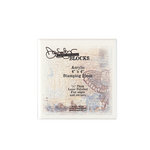 Donna Salazar - Acrylic Stamping Block - 4 x 4
