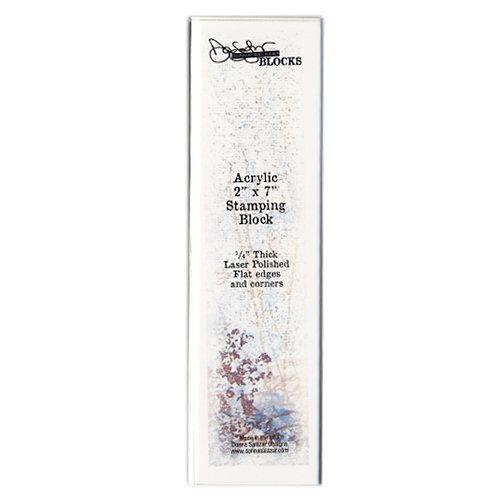 Donna Salazar - Acrylic Stamping Block - 2 x 7