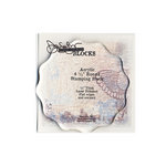 Donna Salazar - Acrylic Stamping Block - Round - 4.5 Inches