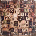 Tim Holtz - District Market Collection - Idea-ology - 12 x 12 Burlap Canvas Panel - Alphabetical