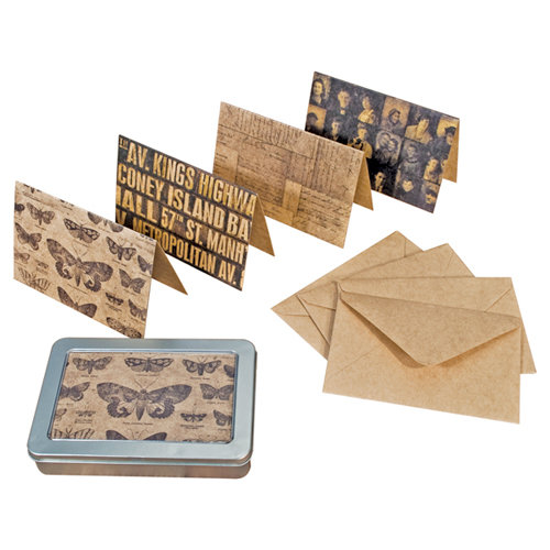 Tim Holtz - District Market Collection - Idea-ology - Notecard Set - Metropolitan