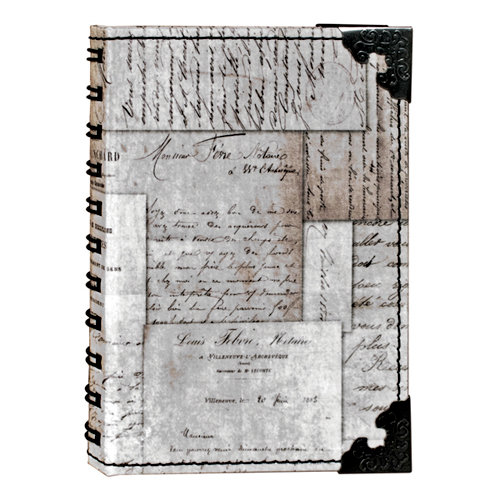 Tim Holtz - District Market Collection - Idea-ology - Spiral Journal - Small - Memoirs