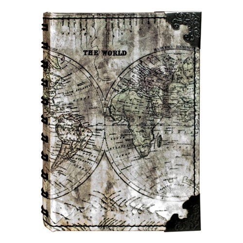 Tim Holtz - District Market Collection - Idea-ology - Spiral Journal - Small - Atlas
