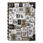 Tim Holtz - District Market Collection - Idea-ology - Spiral Journal - Small - Numeric