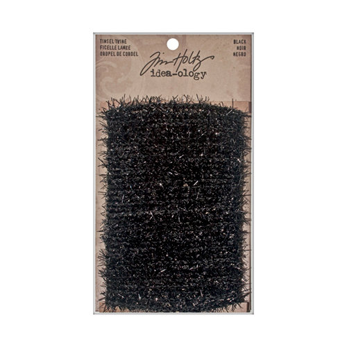 Tim Holtz - Idea-ology Collection - Christmas - Tinsel Twine - Black