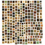 Tim Holtz - Idea-ology Collection - Chipboard Alphabet Tiles