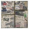 Tim Holtz - District Market Collection - Idea-ology - Burlap Canvas Panels - Destinations