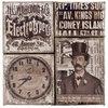 Tim Holtz - District Market Collection - Idea-ology - Burlap Canvas Panels - Steam Punk