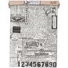 Tim Holtz - Idea-ology Collection - Tissue Wrap Paper - Postale