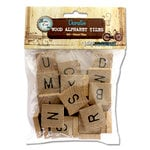 Bottle Cap Inc - Vintage Edition Collection - Altered Art - Wood Alphabet Tiles