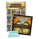 Bottle Cap Inc - Vintage Edition Collection - Alphabet Tile Images - Heart Strings