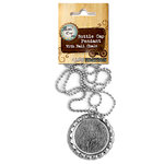 Bottle Cap Inc - Vintage Edition Collection - Jewelry - Bottle Cap Pendant on Ball Chain - Flat Chrome