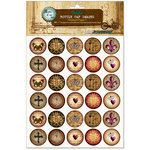 Bottle Cap Inc - Vintage Edition Collection - Bottle Cap Images - Abstract Paper 1 - 1 Inch