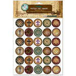 Bottle Cap Inc - Vintage Edition Collection - Bottle Cap Images - Abstract Paper 2 - 1 Inch