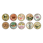 Bottle Cap  Inc - Vintage Edition Collection - Bottle Cap Images - Birds and Crowns - 1 Inch